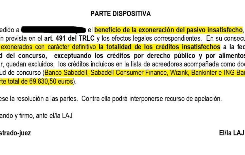 Una empresaria vasca consigue liberarse de casi 70.000 euros de deuda gracias a la Ley de Segundas Oportunidades