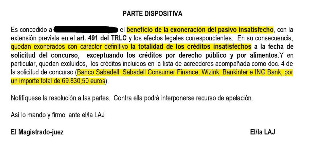 Una empresaria bilbaína consigue liberarse de casi 70.000 euros de deuda gracias a la Ley de Segundas Oportunidades